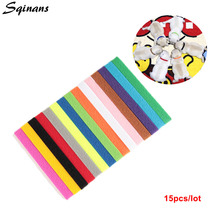 Sqinans 15pcs/lot Puppy ID Collars Whelping Bands Adjustable Nylon Identification Pet Supplies