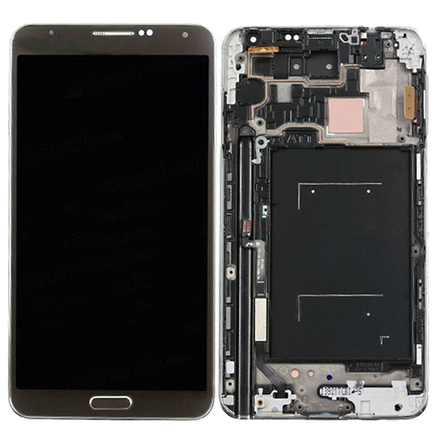 +Frame BLACK LCD Display + Touch Screen Digitizer Assembly Replacement For Samsung Galaxy Note 3 N900A Free Shipping бензопила elitech бп 45 18