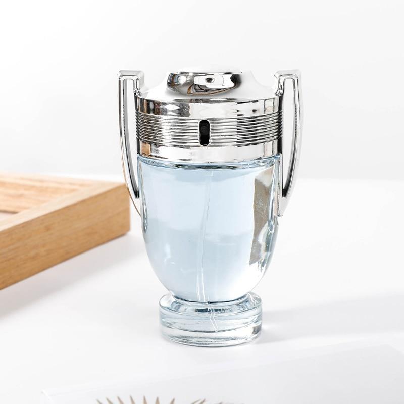 LAIKOU Men Perfume 100ML Glass Bottle Male Silver Cup Parfum Long Lasting Fragrance Spray Original Cologne Gentleman Atomizer