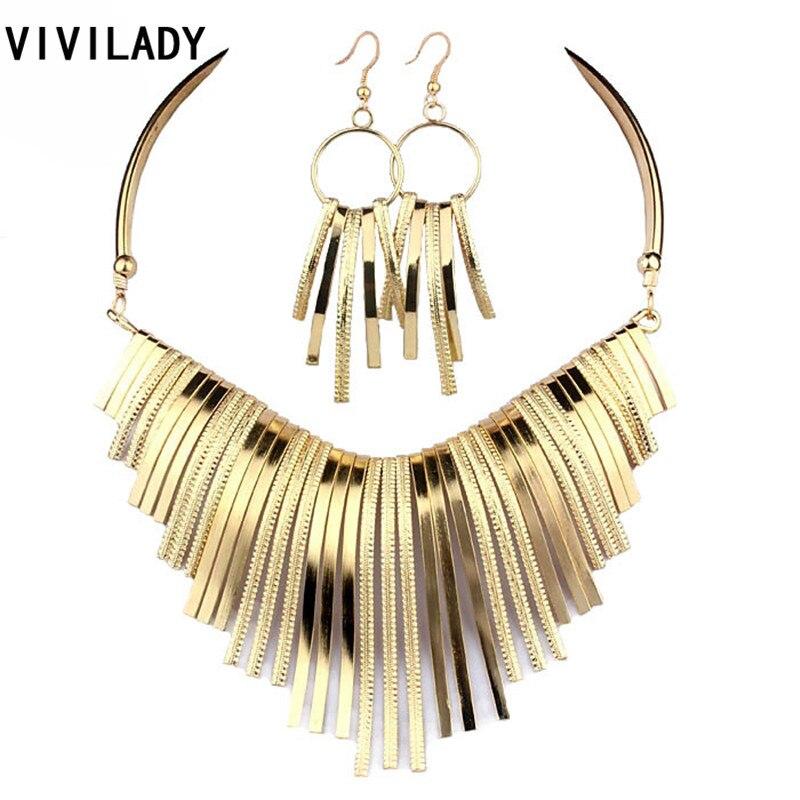 aliexpress buy vivilady collar metal jewelry sets