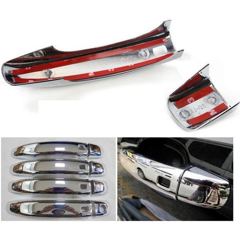 For AUDI Q5 2010 2011 2012 2013 Car Door Handle Cover Exterior ABS Chrome 4pcs nitro triple chrome plated abs mirror 4 door handle cover combo