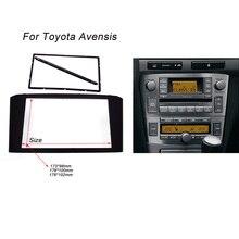 Автомобильная радиосвязь для TOYOTA Avensis Facia панель Лицевая панель стереосистемы аудио рамка переходная приборная панель комплект адаптер отделка 2din DVD рамка