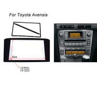 Car Radio Fascia For TOYOTA Avensis Facia Panel Stereo Face Plate Audio Bezel Facia Dash Mount