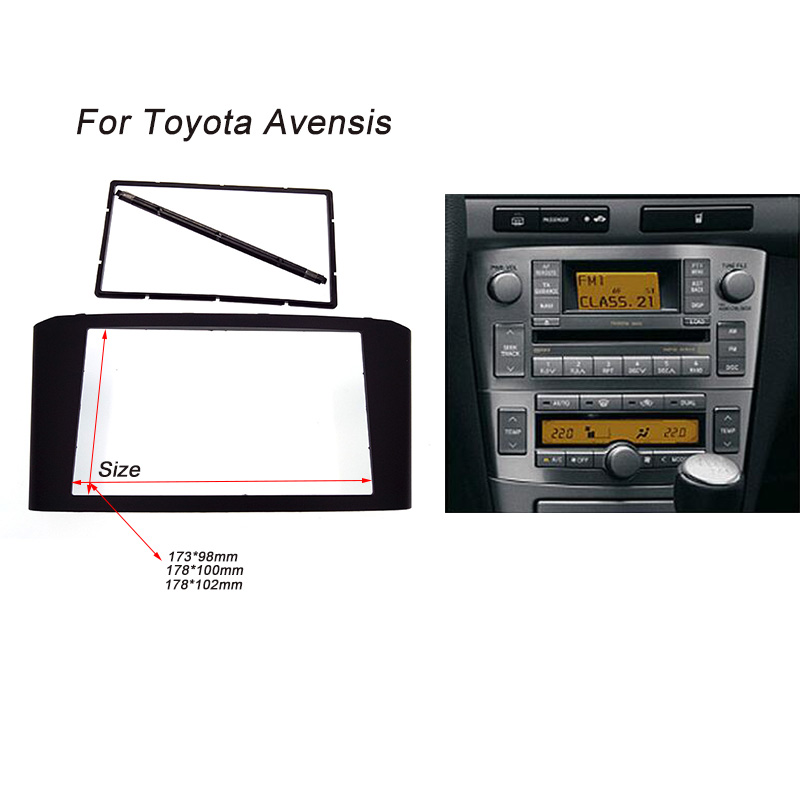 Car Radio Fascia for TOYOTA Avensis Facia Panel Stereo Face Plate Audio Bezel Facia dash Mount Kit Adapter Trim 2din DVD Frame frank fabozzi j analysis of financial statements isbn 9781118334140