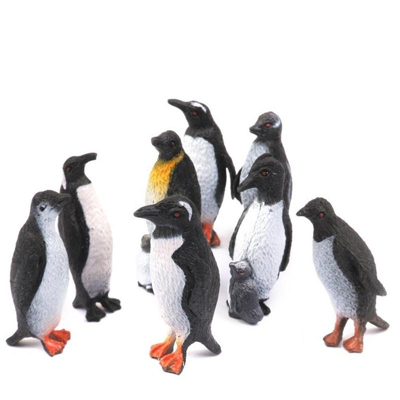Hot Toys Lovely Penguin Simulation Model Marine Animals Sea Animal Kids Gifts Educational Props Action Figures Toys Collections