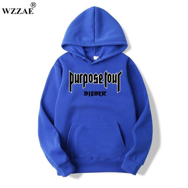2020 Justin Bieber Poster Hip Hop Sweat Homme Hoodie Hooded Man Letters Justin Bieber Purpose Tour Streetwear Gray Black Hoodies 5