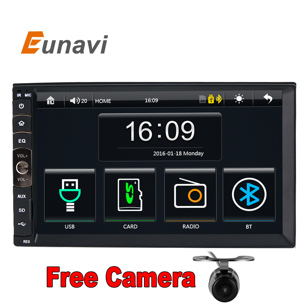 2 DIN Car radio GPS MP3 mp5 usb sd player Bluetooth Handsfree Rearview after Touch screen