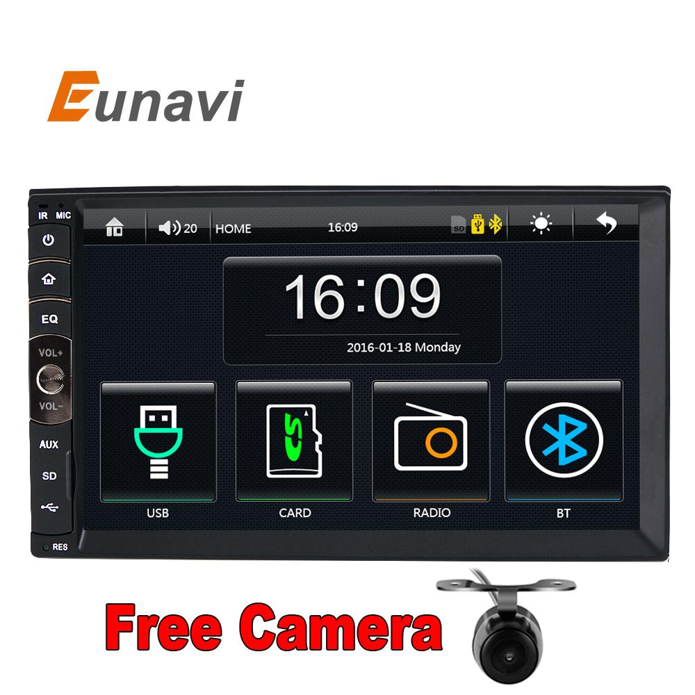 Prix pour 2 DIN Voiture radio/GPS/MP3/mp5/usb/sd/lecteur Bluetooth Mains Libres Rétroviseur après écran Tactile hd système Radio BT