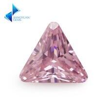 Размер 5*5 ~ 8*8 мм треугольная форма скошенный Конер 5А розовый