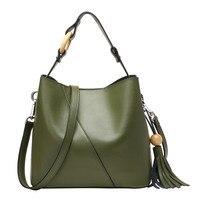 Nesitu Fashion Red Green Black Split Leather Small Women Handbags Messenger Bags Lady Shoulder Bag Tote