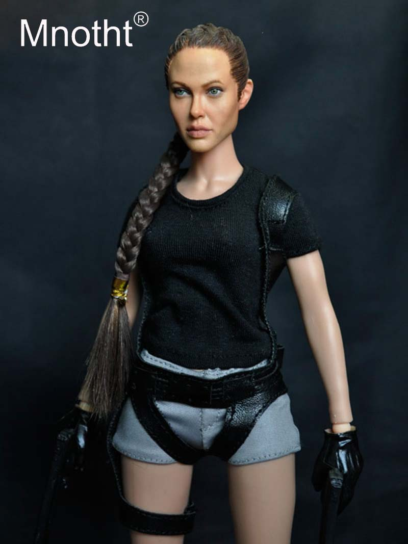 1:6 Scale Korean Kumik KMF026 1/6 Angelina Jolie Lora Croft Tomb Raider 12 Collectible Action Figure Hobbies Collection Toys game 26 cm rise of the tomb raider lara croft variant painted figure variant lara croft pvc action figure collectible model toy