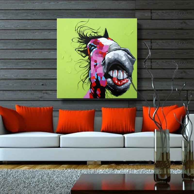 Komisch Esel Ölgemälde Auf Leinwand Moderne Tier Wand Kunst Wohnkultur  Malerei Kalligraphie Für Kinderzimmer Dekoration Ungerahmt In Komisch Esel  Ölgemälde ...