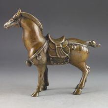 Elaborate China handmade brass statue - Horse