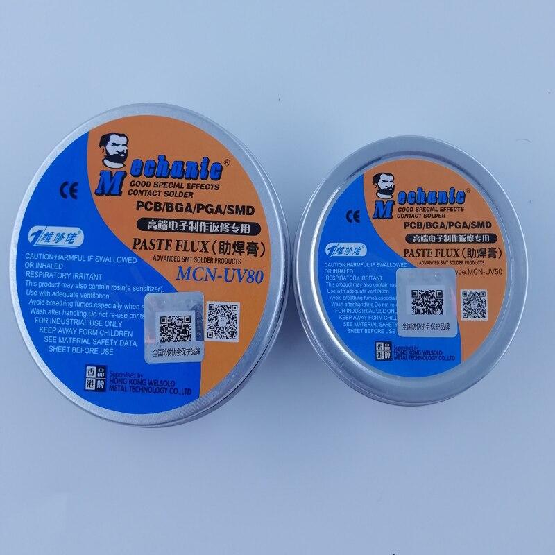 MECHANIC No-Clean Paste Flux Soldering Tin BGA Solder Flux Electric Soldering Iron Fluxes UV80 UV50 For PCB/BGA/PGA/SMD