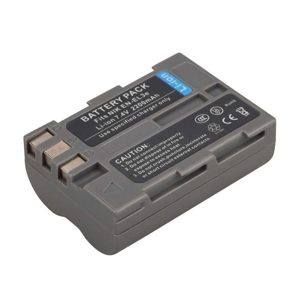 1Pc 7.4V 2200mAh EN-EL3e EN EL3e ENEL3e Replacement Camera Battery for Nikon D200 D80 D300 D100 D100SLR D50 D70 D70S D700 D90