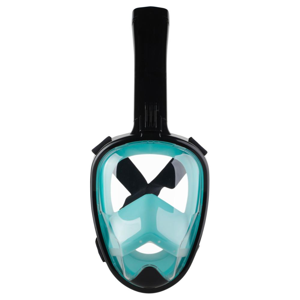 2018 Newest Underwater Anti-fog Full Face Snorkel Mask Anti-leak Scuba Diving Goggles Comfortable Snorkel Scuba Diving Maske 2018 new warrior full face full dry anti fog anti leak breathing tube diving mask with tempered lens goggles diving glasses