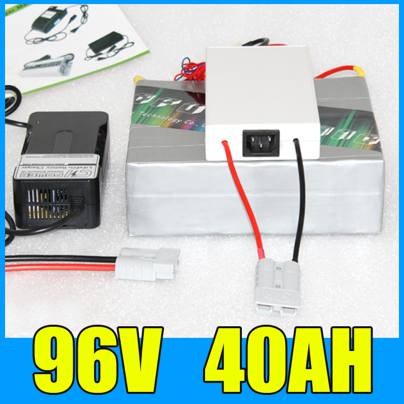 96V 40AH Lithium Battery Pack , 109.2V 4000W Electric bicycle Scooter solar energy Battery , Free BMS Charger Shipping free customs taxes super power 1000w 48v li ion battery pack with 30a bms 48v 15ah lithium battery pack for panasonic cell