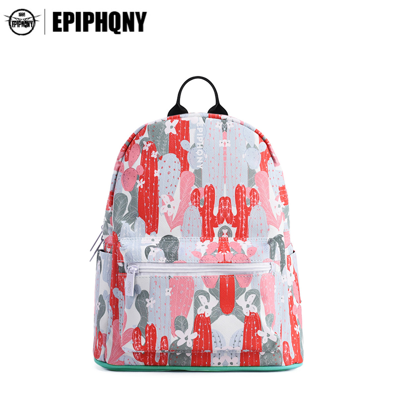 Epiphqny Fashion Brand Women Cute Floral Backpack Color Cactus Printing Bags for School College Casual Designer Waterproof-in Backpacks from Luggage & Bags on Aliexpress.com | Alibaba Group