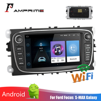 AMPrime 2 Din Car Multimedia player 7 Autoradio Android GPS Wifi Car Radio Mirrorlink FM USB For Ford/Focus/C Max/Mondeo/Galaxy