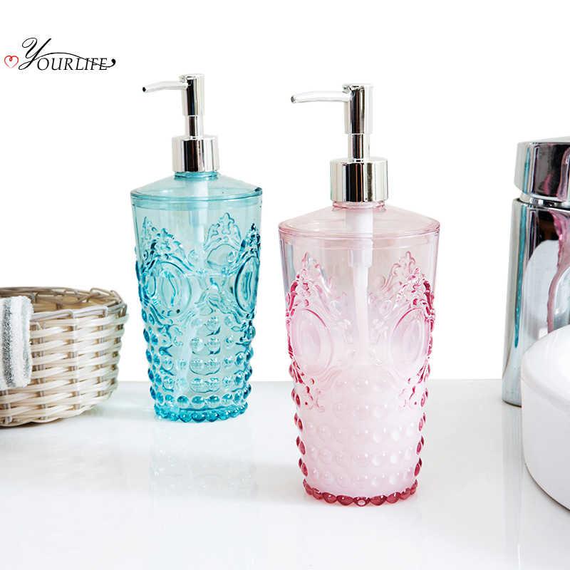 Oyourlife 650 Ml Stile Europeo Sapone Liquido Dispenser Pompa Doccia Bottiglia di Shampoo Disinfettante per Le Mani Contenitore di Accessori per Il Bagno