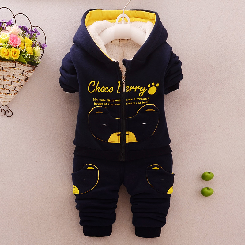 2018 Warm winter sports Set Children's suits Boys and girls coat and pants 2 pieces Sets Children's winter Clothing Kids clothes toddler girls hello kitty clothes set winter thick warm clothes plus velvet coat pants rabbi kids infant sport suits w133