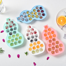 Funny Gourd Shape 10 Grids 21 Silicone Ice Tray Irregular Cube Mold Storage Containers DIY Fruit Cake Molds