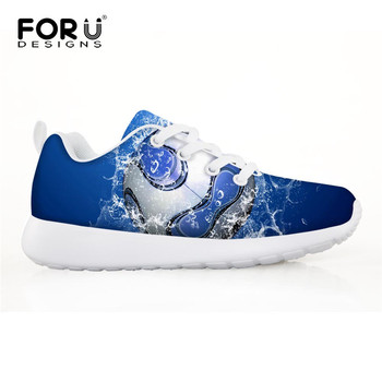 FORUDESIGNS 3D Football Pattern Children Sneakers for Boys Running Shoes Outdoor Comfortable Sport Shoes Kids Soccer Shoes 2018