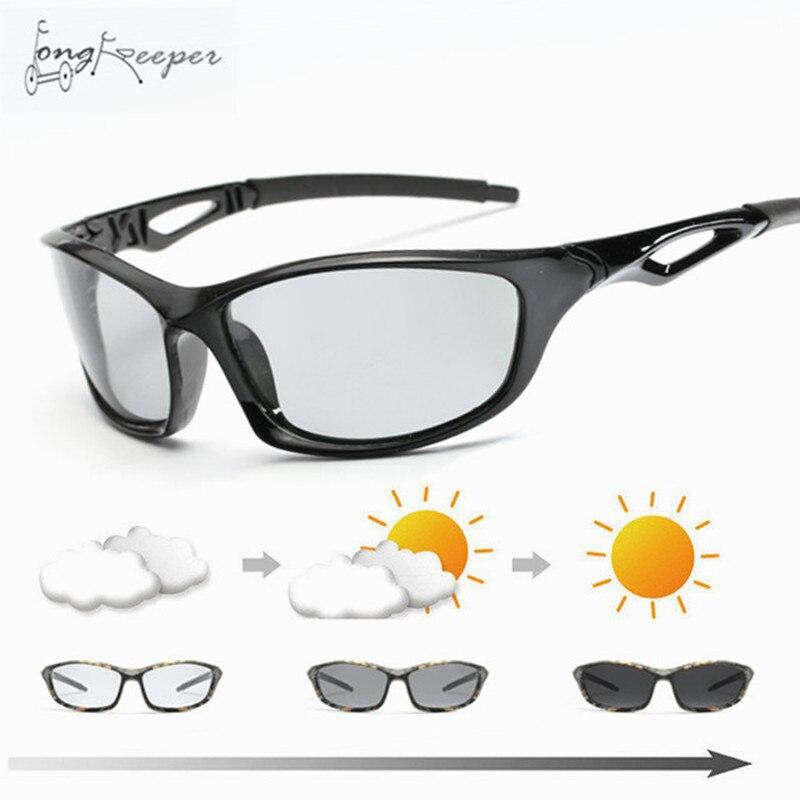 2018 Cycling Men's Photochromic Polarized Sunglasses Anti-UV Camo Driving Eyewears For Men Women Driver UV400 Sun Glasses Male