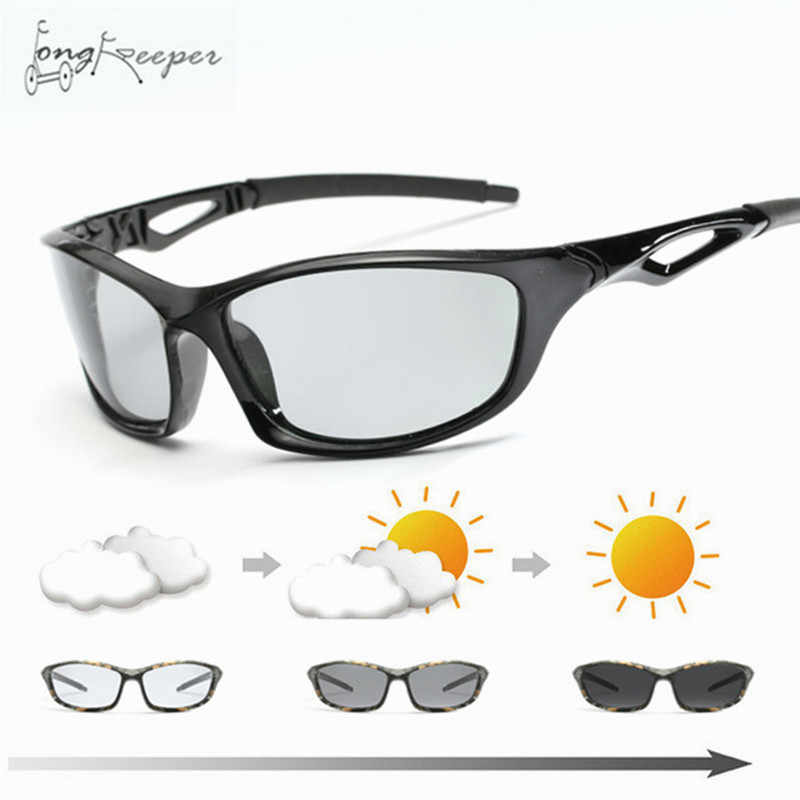 b88c12e925c 2018 Cycling Men s Photochromic Polarized Sunglasses Anti-UV Camo Driving  Eyewears for Men Women Driver