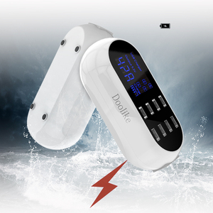 Зарядное устройство Doolike с цифровым дисплеем, многопортовое умное зарядное устройство с 8 usb-разъемами для Samsung S8, iPhone X