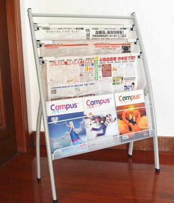 Newsstand Bookshelf Floor type Newspaper magazine multi purpose shelf