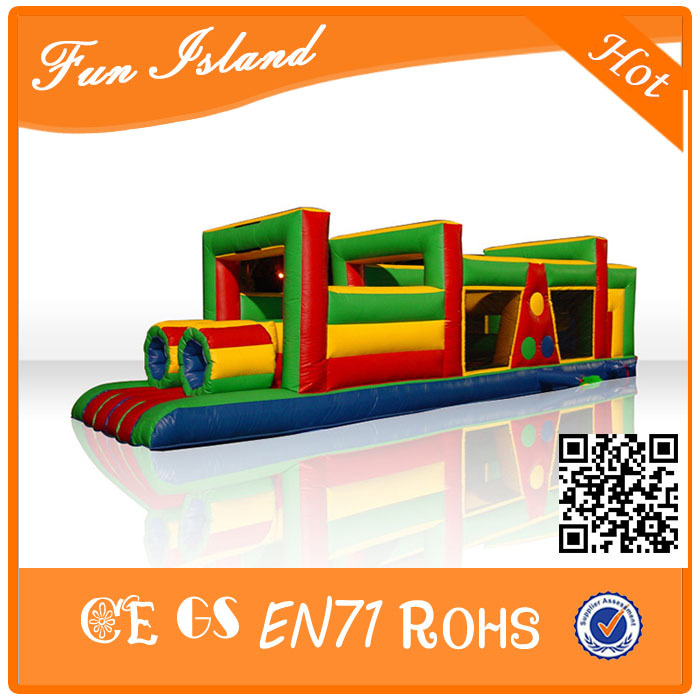 Cheap Inflatable Obstacle Course, Inflatable Sport Games ,Inflatable Tunnel Game For Sale For Kids all in 1 combo sports games inflatable bouncing castle house obstacle course for kids fun