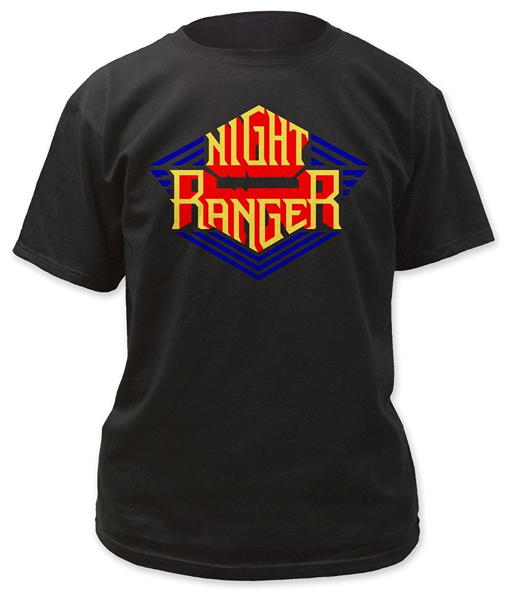 t shirt with night ranger logo crew neck men short sleeve printing machine t shirts in t shirts. Black Bedroom Furniture Sets. Home Design Ideas