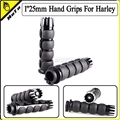 "Motorcycle 1""25mm Aluminum CNC Handle Bar Hand Grips For Harley Sportster XL 883 1200 Softail Touring Dyna Custome Road Street"