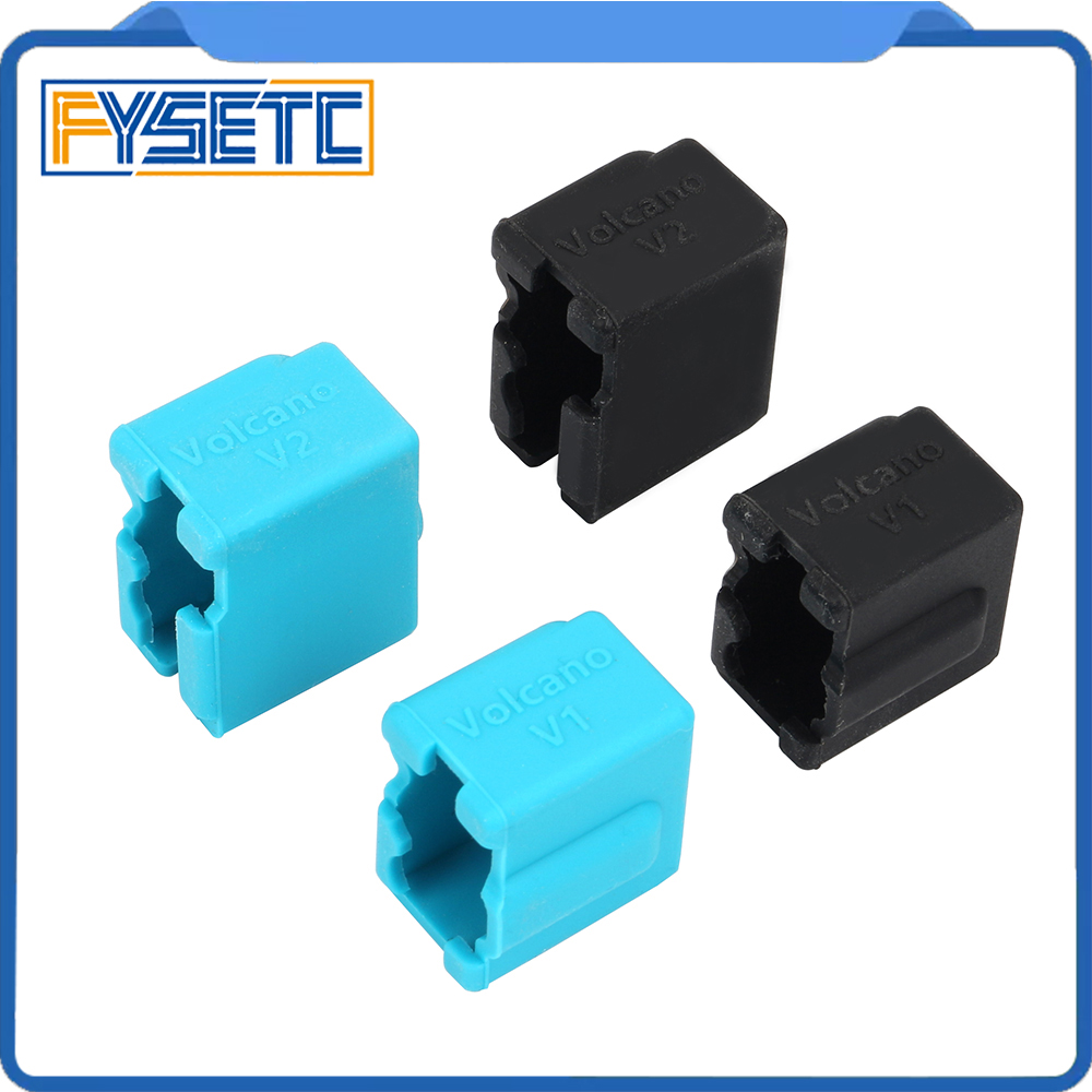 Volcano Silicone Sock Black Blue Volcano Heated Block J-head Hotend Bowden/Direct Extruder Block Cover 3D Printer Part