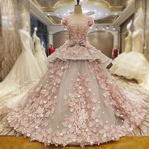 Image 2 - AIJINGYU レースウェディングドレスモロッコガウン韓国ロイヤルクイーン袖新しいインドのウェディングドレス