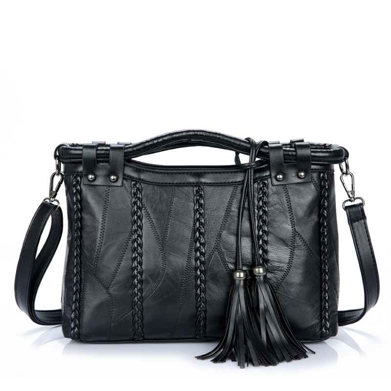 ФОТО Bailar women handbags shoulder messenger bags  Genuine Leather sheepskin tassel famous brand high quality fashion bags hot sale