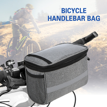 Cycling Bike Bicycle Insulated Front Bag MTB Bike Handlebar Bag Basket Pannier Cooler Bag Reflective Strip Bicycle Accessory roswheel hot new 3l bicycle bag water proof mtb bike handlebar front basket pvc pannier pouch cycling holdings accessories