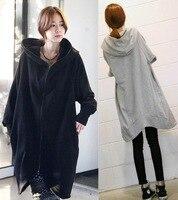 XL Hoodie 2016 Autumn Korean Maternity Long Loose Irregular Cardigan Coat Maternity Clothes Pregnancy Leisure Large