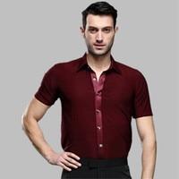 new male summer adult Latin dance SHIRT MENS shirts Latin training clothes modern dance Rumba Samba Jive ballroom shirt