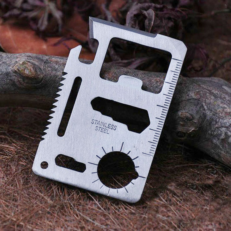 Multi tool business card oxynux 100pcs lot 11 in 1 multi tools stainless steel credit card emergency colourmoves