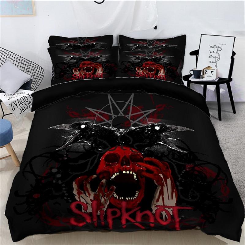 Хэллоуин 3D постельные принадлежности наборы дети постельное белье Королева Король Размер супер король пододеяльник наволочки набор Скеле