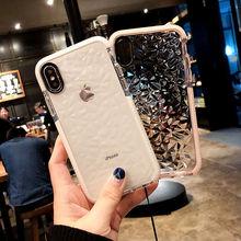 Роскошные Ясно Блеск 3D Diamond чехол для iPhone 8 7 6 6 S плюс Мягкие силиконовые прозрачные женские чехол телефона для iPhone X XS 8 плюс