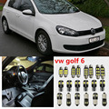 8 x Error Free White Interior LED Light Package Kit For vw golf 6 mk6 accessories reading Indoor lights