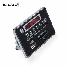 Kebidu 5V 12V 핸즈프리 MP3 디코더 보드 블루투스 모듈 자동차 USB 플레이어 USB FM Aux 라디오 자동차 통합 원격 제어