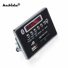 kebidu 5V 12V Hands free MP3 Decoder Board Bluetooth Module Car USB Player USB FM Aux Radio for Car Integrated Remote Control