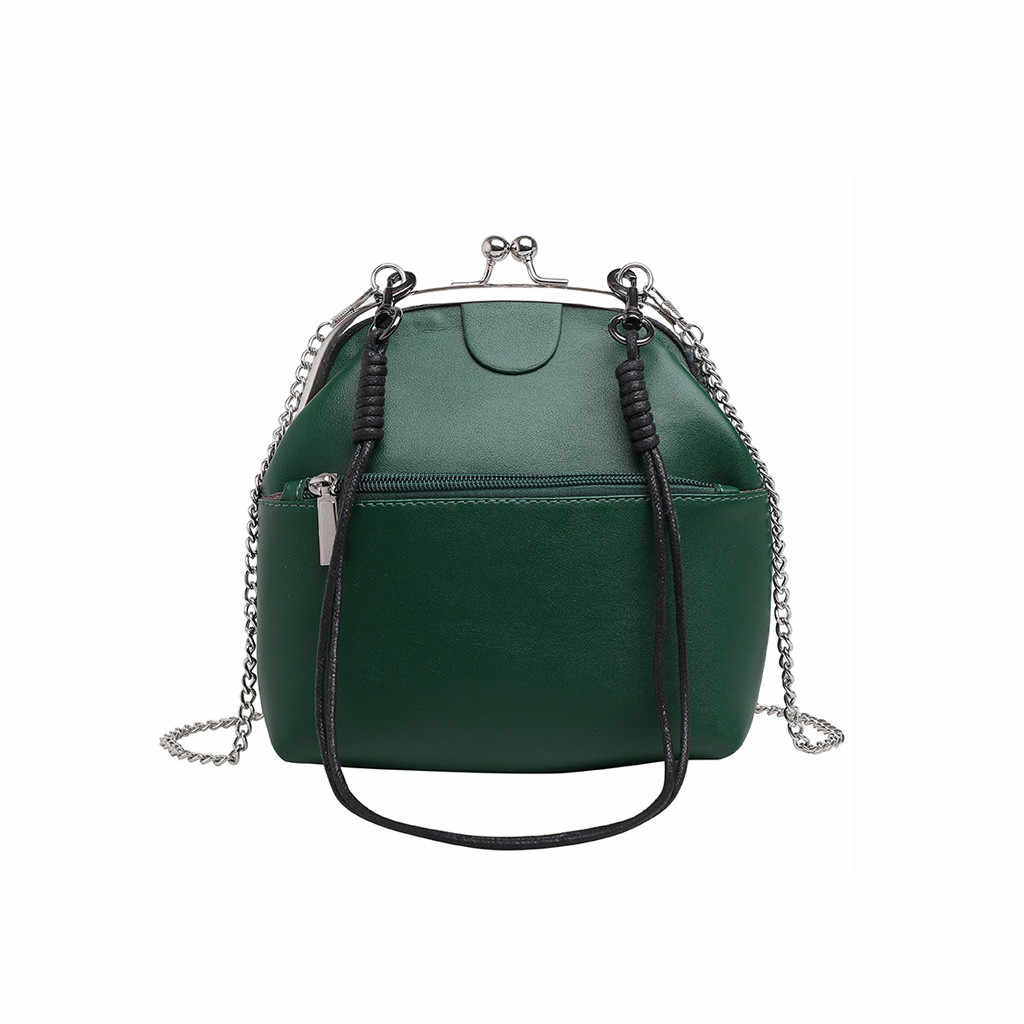Сумки для женщин 2019 модные летние однотонные кожаные сумочки винтажные сумки-мессенджеры на цепочке сумка через плечо универсальная сумка