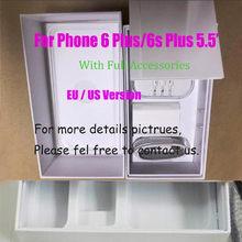 10Pcs Us/Eu/Uk Versie Telefoon Verpakking Verpakking Box Case Voor Iphone 6/6S Plus 5.5 Inch Met Volledige Accessoires Mobiele Pakket Box