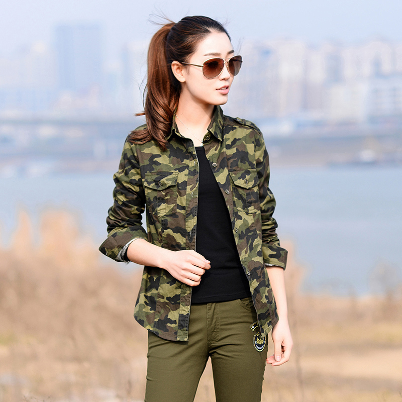 camouflage shirt women camo print shirts with chest. Black Bedroom Furniture Sets. Home Design Ideas