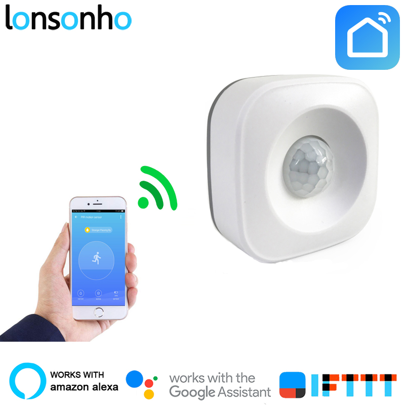 Lonsonho Smart Wifi Pir Motion Sensor Alarm Infrared Motion Detector Work With Alexa Google Home IFTTT Smart Life Tuya Smart AppLonsonho Smart Wifi Pir Motion Sensor Alarm Infrared Motion Detector Work With Alexa Google Home IFTTT Smart Life Tuya Smart App